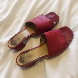 Maryam Nassir Zadeh Red Sophie Slides Size 38